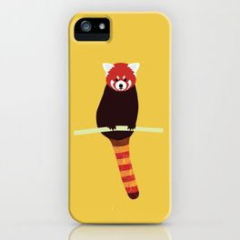Red panda on a branch iPhone Case