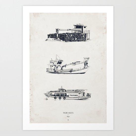 Tigre Delta: Ships Part Two Art Print