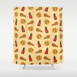Chicken And Waffles Shower Curtain
