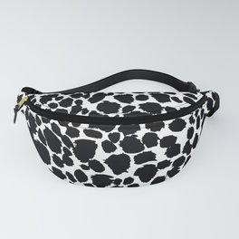 Animal Print Cheetah Black and White Pattern #4 Fanny Pack