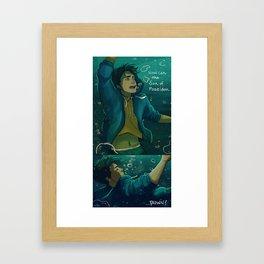 How can the Son of Poseidon...drown? Framed Art Print