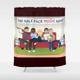 Wolf Pack Movie Night Shower Curtain
