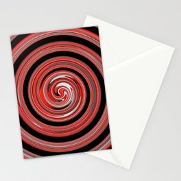 Red waves Stationery Cards