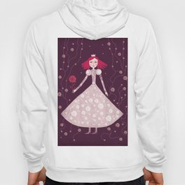 queen claret-pink Hoody