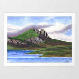 A Scottish Loch Art Print