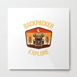 Backpacker - Explore Metal Print