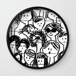 Les filles...  Girls... Wall Clock