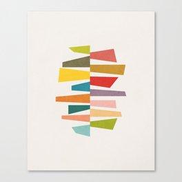 Trapezoids 3. Geometric artwork Canvas Print