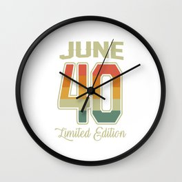 Vintage 80th Birthday June 1940 Sports Gift Wall Clock