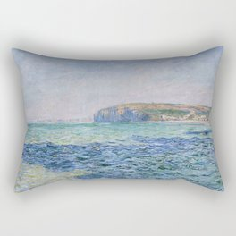 Shadows on the Sea at Pourville by Claude Monet Rectangular Pillow