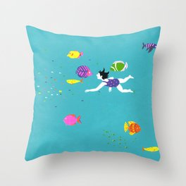 Let's Swim Together - Fish Throw Pillow