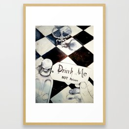 drink me NOT poison Framed Art Print