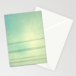 Horizontal Lines in the air Stationery Cards