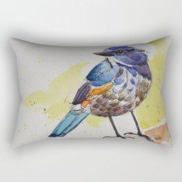 Himalayan Bluetail Bird- in watercolor Rectangular Pillow