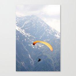 Parachute in Chamonix Canvas Print