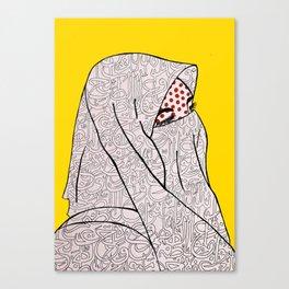 Roy Lichtenstein Meets the Arabic Woman Canvas Print