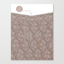 Knitting experience Canvas Print