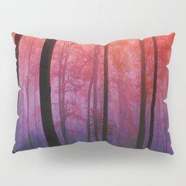 Whispering Woods, Colorful Landscape Art Pillow Sham