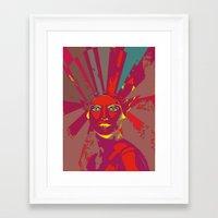 medusa Framed Art Prints featuring MEDUSA by Julia Lillard Art