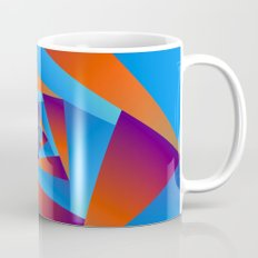 Orange and Blue Spiral Mug