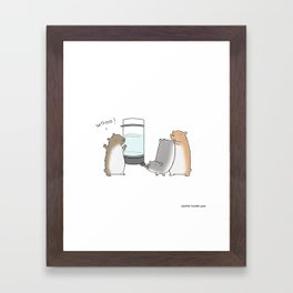 Ain't Nothin But A Hamster Party  Framed Art Print