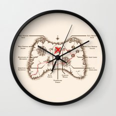 Controller Map Wall Clock