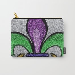 Fleur De Lis Purple Green and Gold Carry-All Pouch
