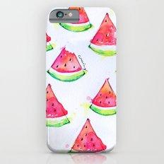 Watermelon Watercolor Print  Slim Case iPhone 6s