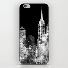 New York City Inverted Watercolor Skyline iPhone Skin
