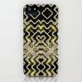 Tribal Gold Glam iPhone Case