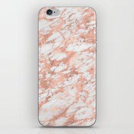 Massarossa rose gold marble - petal pink iPhone Skin
