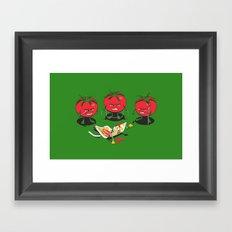 100% Tomate Natural Framed Art Print