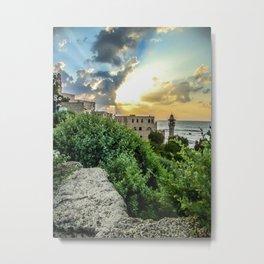Sunset Old Jaffa Metal Print
