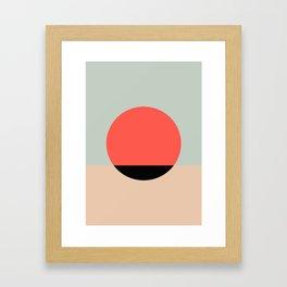 Relaxing graphic Framed Art Print