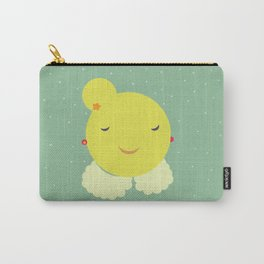 miss sunshine with a collar and snowfall Carry-All Pouch