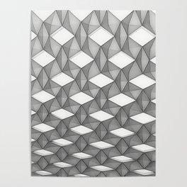Trapez 5/5 grey pencil sketch by Brian Vegas Poster