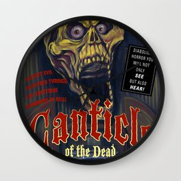 """Canticle of the Dead"" Movie Poster Wall Clock"