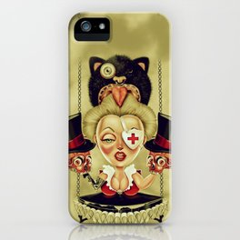Hanging from Above iPhone Case