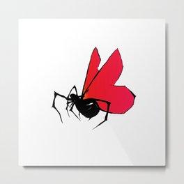 Spider Fly Metal Print