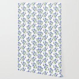 Blue Florals Wallpaper
