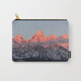 Glowing Pink Sunrise in Grand Teton National Park, Wyoming Carry-All Pouch