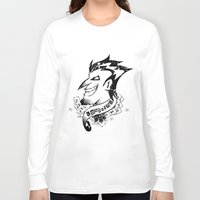 fear and loathing Long Sleeve T-shirts featuring JOKER - LOATHING IN GOTHAM by Spectronium - Art by Pat McWain