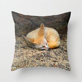Time to Sleep Little Fennec Fox Throw Pillow