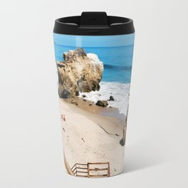 El Matador State Beach Stairs Travel Mug
