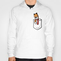 hobbes Hoodies featuring Pocket Pal by adho1982