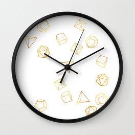 Platonic - Gold Wall Clock
