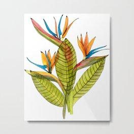 The Flaring Birds of Paradise Metal Print