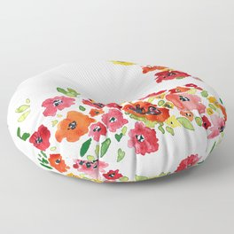 the daily creative project: romantic flowers Floor Pillow