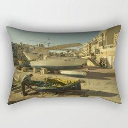 St Julian's golden boats Rectangular Pillow