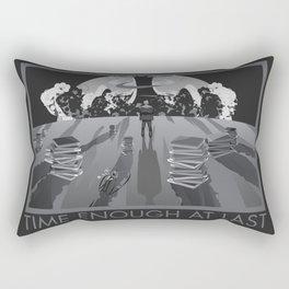 Time Enough At Last Rectangular Pillow